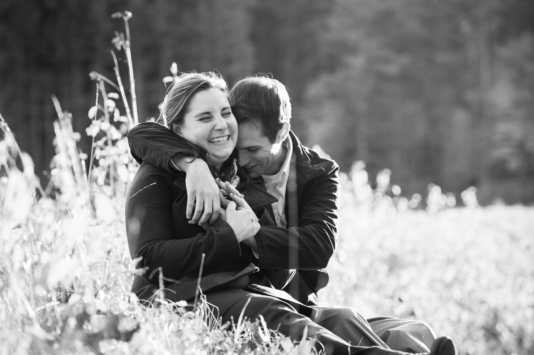 snuggly boston engagement photos