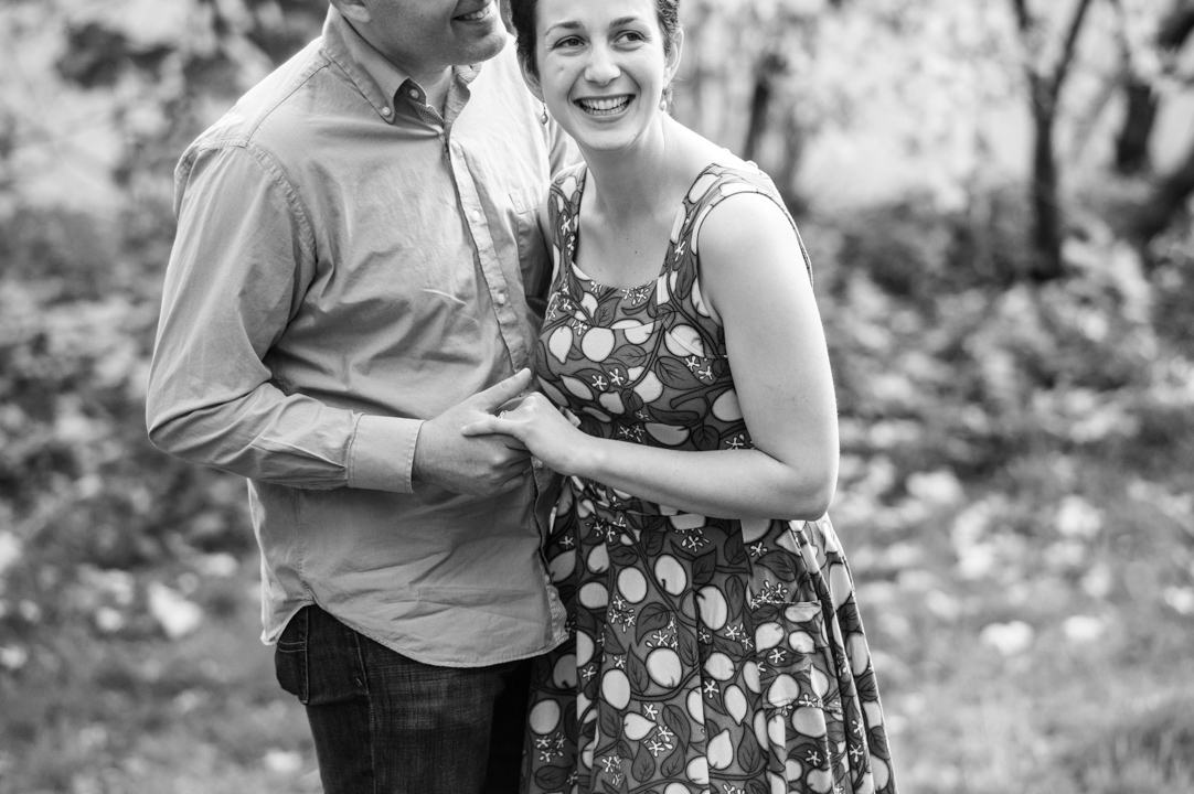 authentic laughter during engagement session boston