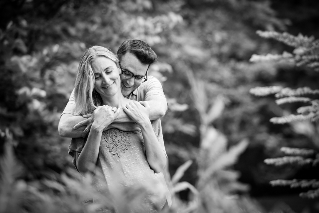 sweet embrace outdoor engagement session