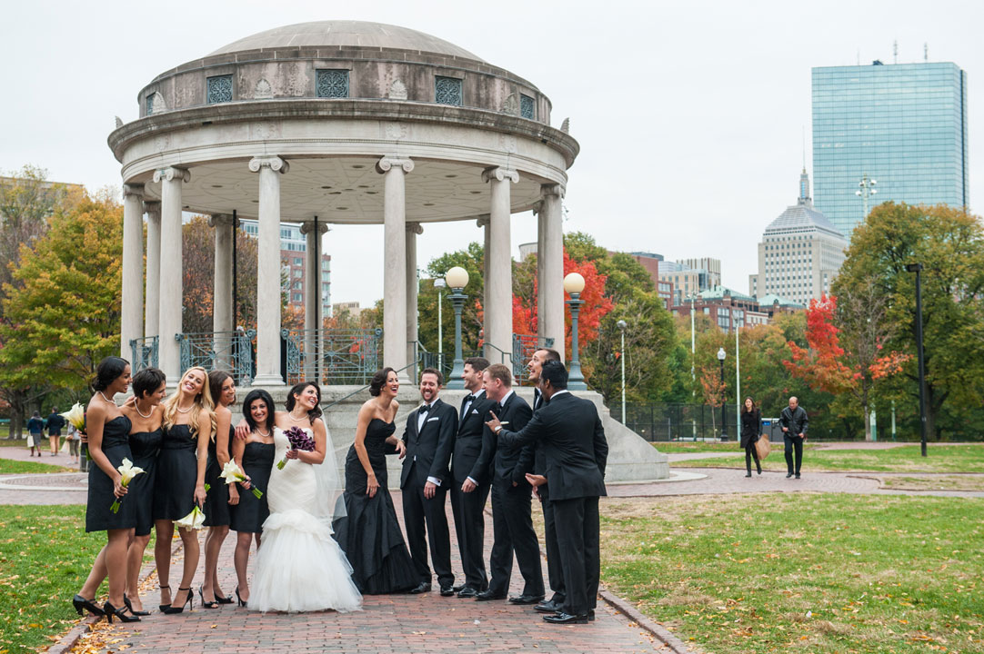 laughing-wedding-party-boston-common