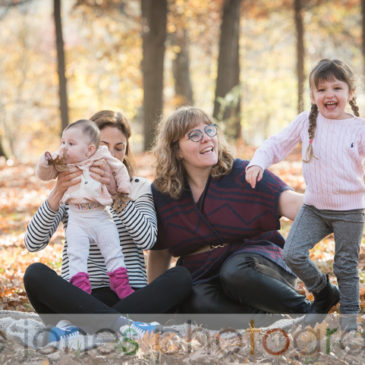 Fall Family Portraits in the Arboretum