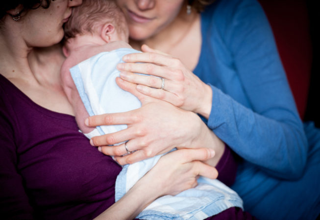 newborn baby family portraits at home
