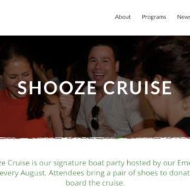 St. Francis House Website Shooz Cruise Event
