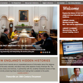 New England's Hidden Histories Web Page