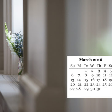 March FREE Desktop Calendar