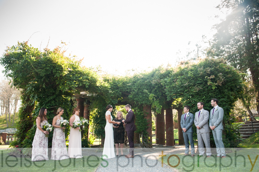 mansion at turner hill outdoor wedding ceremony