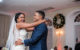 bride and groom laughing first dance boston wedding photographer