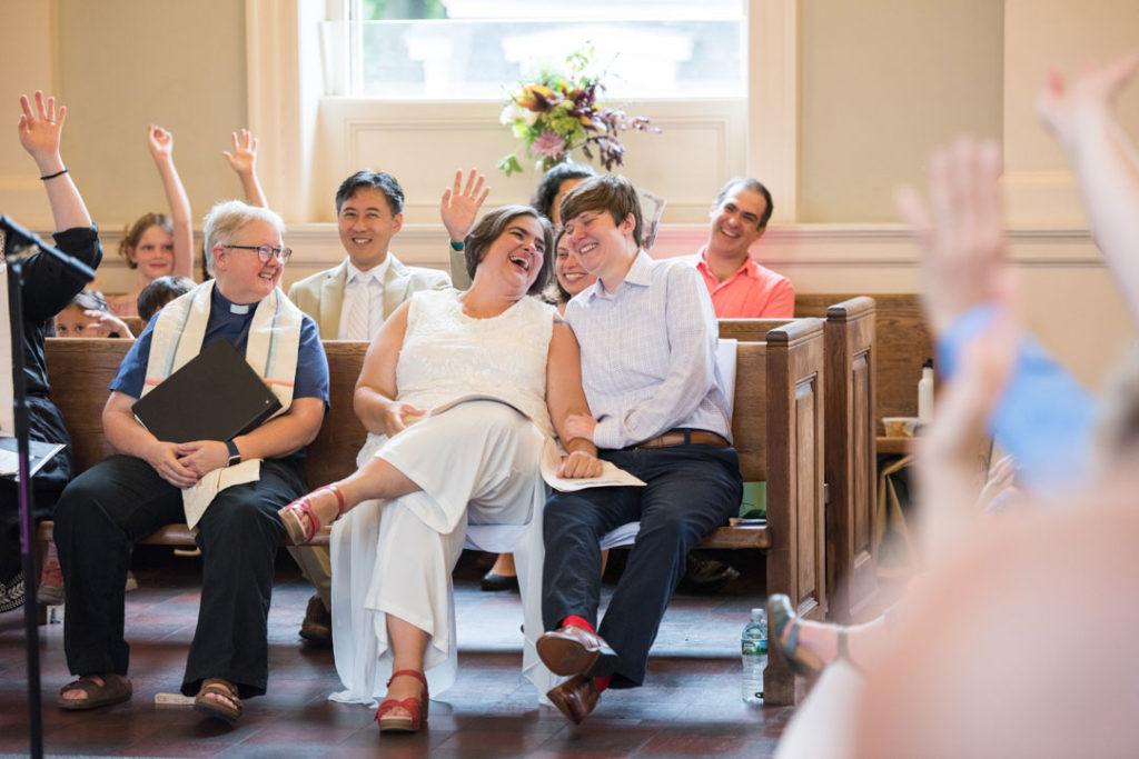 unique wedding ceremony Hope Cebtral Church Jamaica Plain