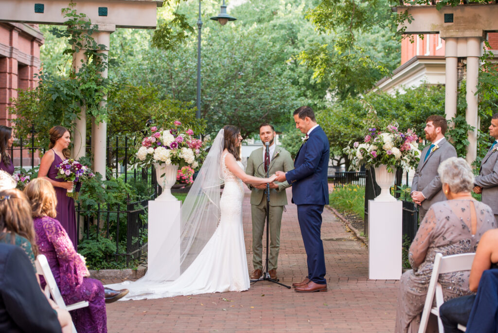 cambridge multicultural arts center outdoor wedding ceremony