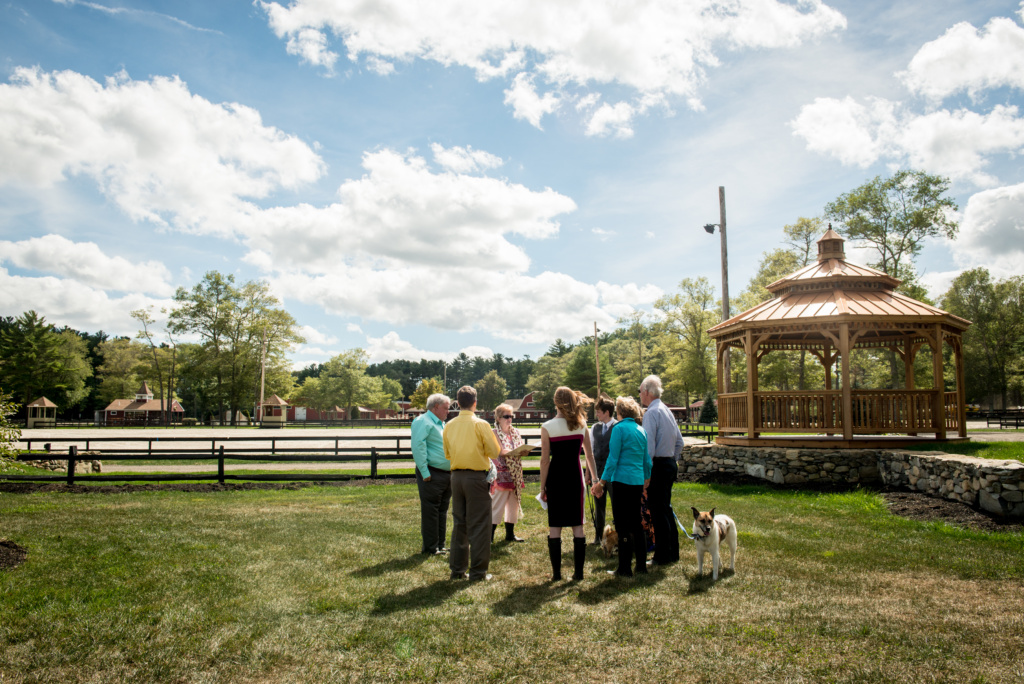 small private wedding at horse farm